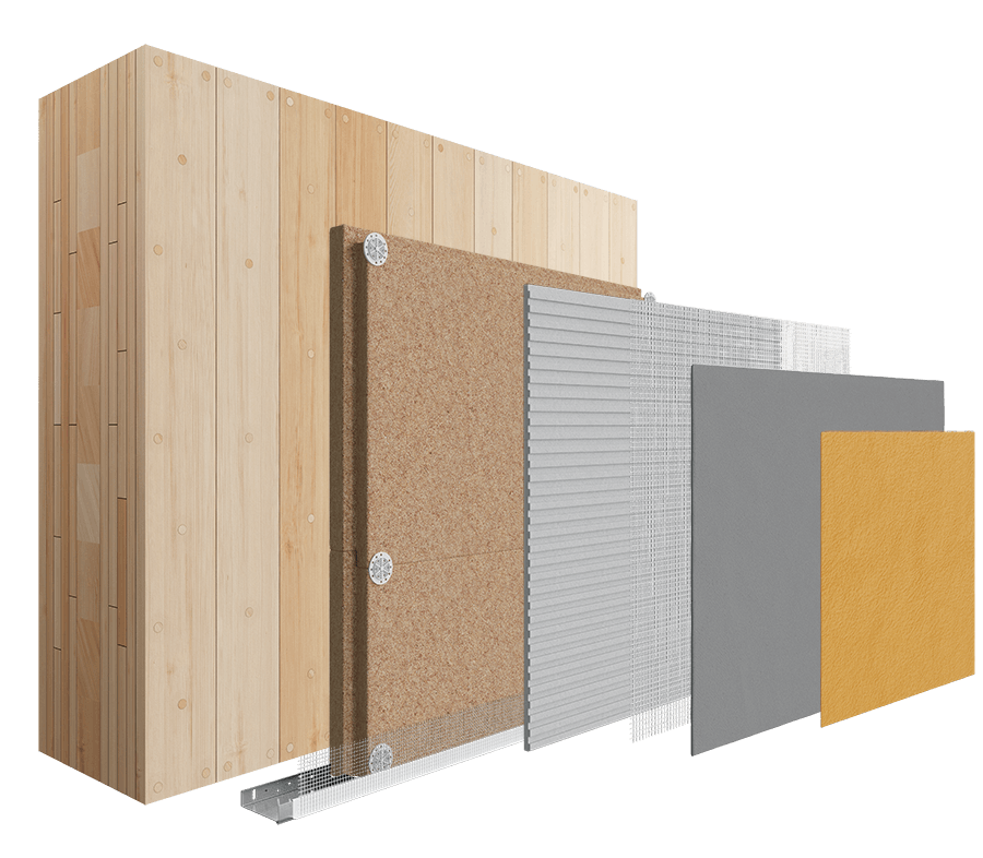 Solid Timber Construction Therma Holz 100 - Wood Fibre System image