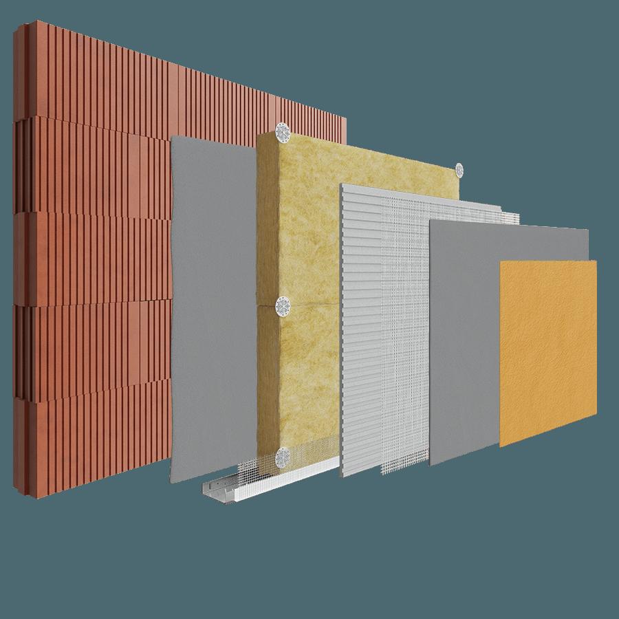 Ziegel Blockwork Porotherm Brick - Mineral Wool System image