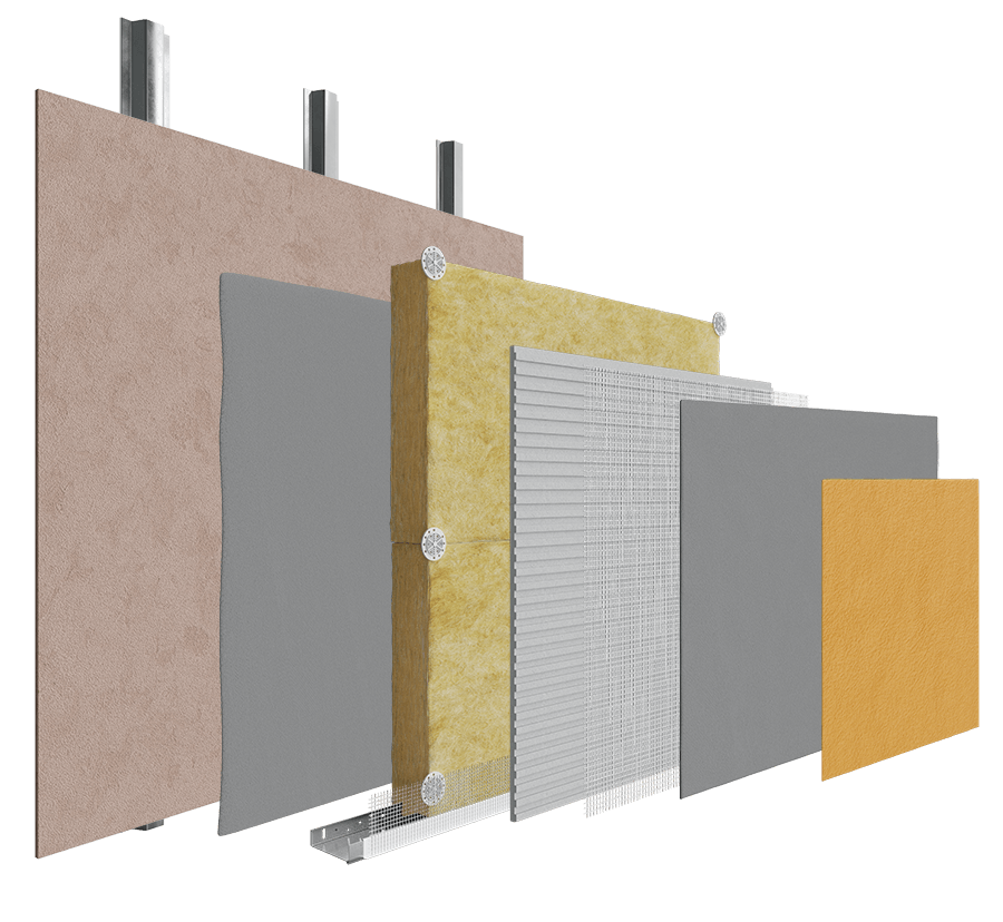 Ventilated Systems Stainless Steel - Mineral Wool System  image
