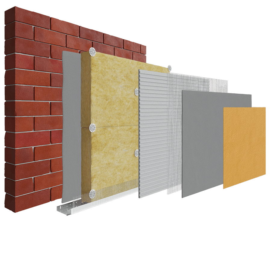 Brick/Block- Mineral Wool Insulation System - EWI Pro Insulation Systems
