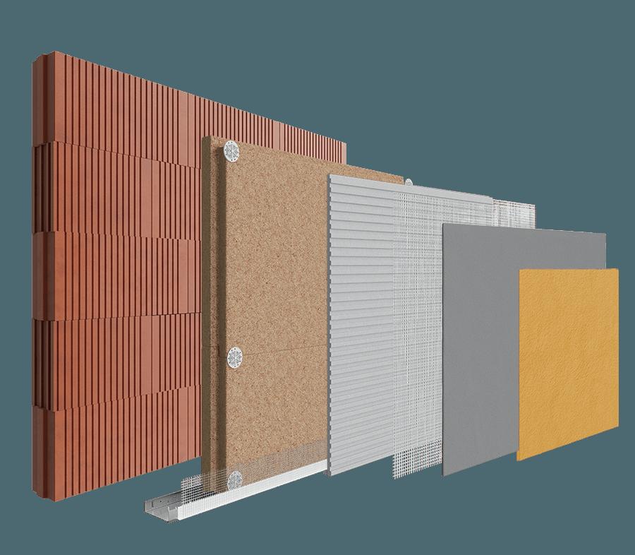 Ziegel Blockwork Porotherm Brick - Wood Fibre System image