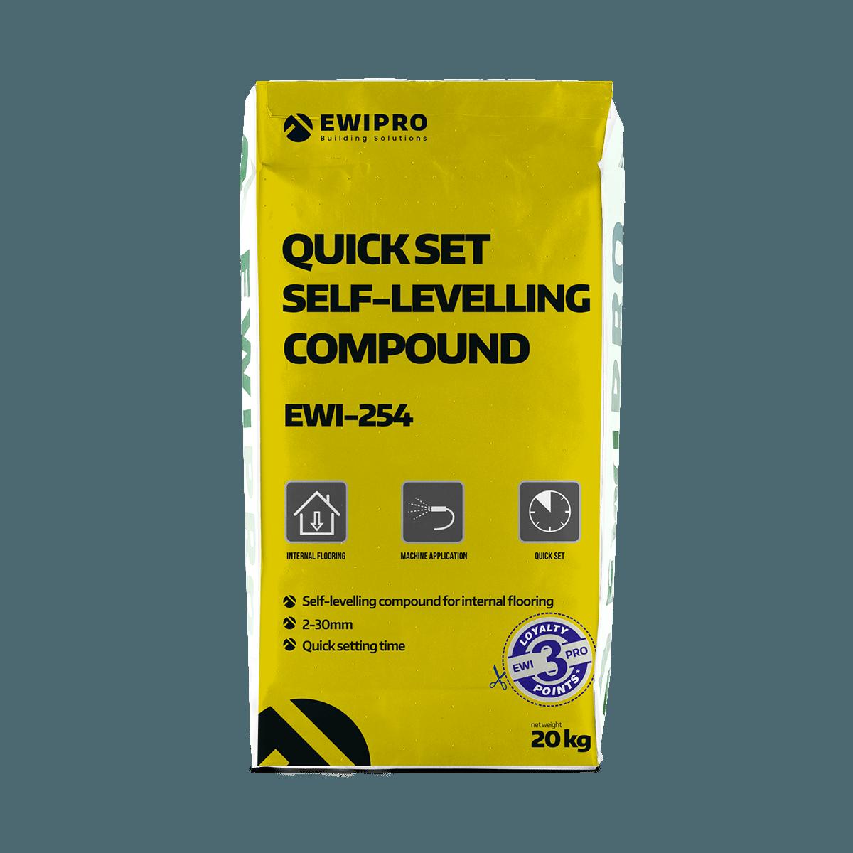 Quick Set Self-Levelling Compound EWI-254 - EWI Pro Systems